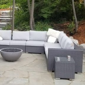 patiowith outdoor couches